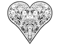 Decorative Valentines Heart in full