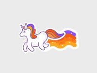 Sticker Space Unicorn