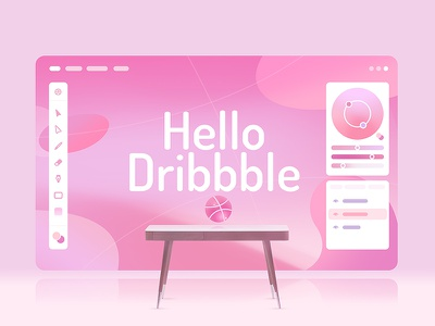 Hello dribbble ! web screen shot first ui