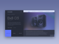 m audio webdesign concept