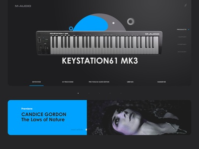 m-audio landing page