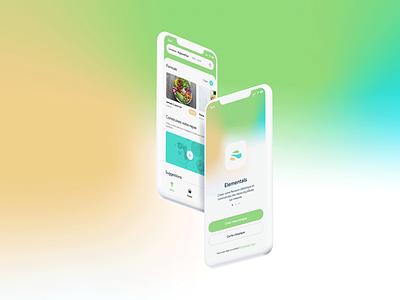 Elementals - Food App POC ux app food