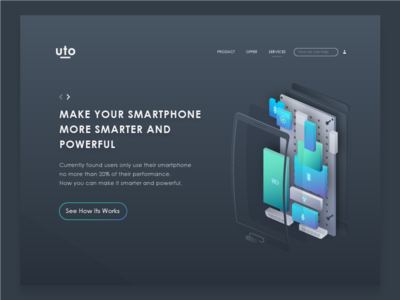Landing page - Make smartphone more smarter and powerful