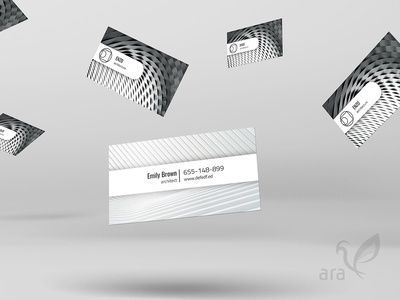 Architecture business card vector typography type logo lettering flat design branding