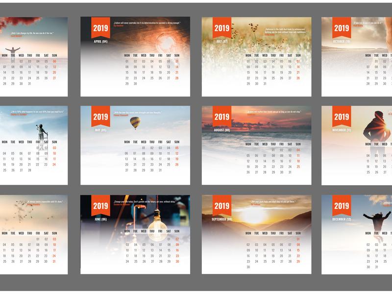 Calendar Design calendar type typography design