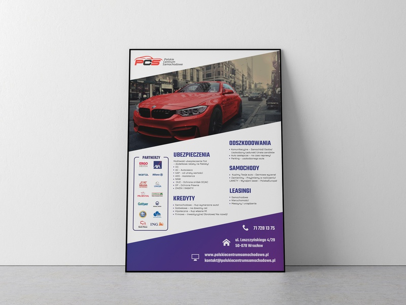 PCS Poster poster design car graphic poster vector typography type branding design