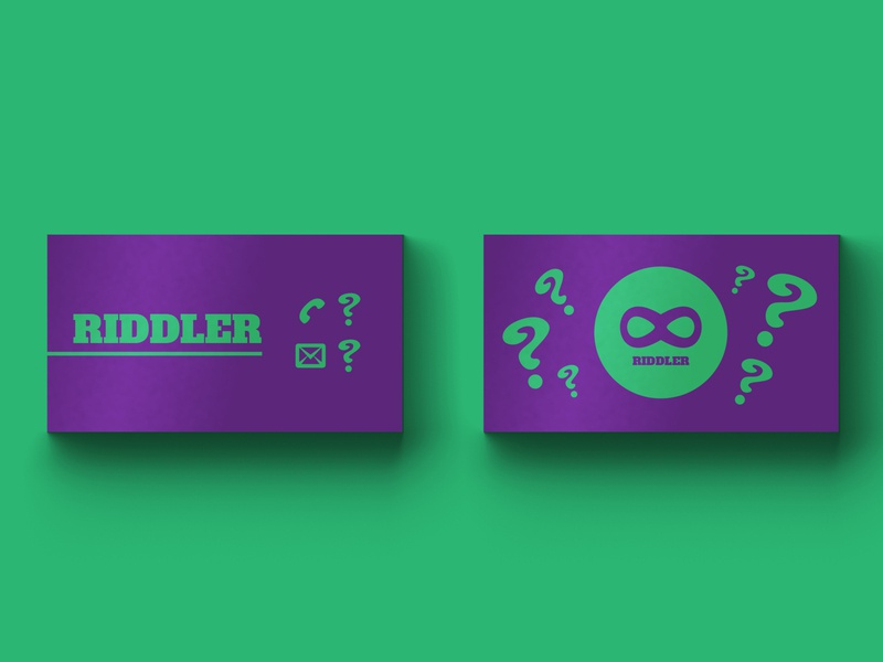 Riddler Business Card - Weekly Warm-Up vol. 2 vector card busienss logo lettering flat branding design