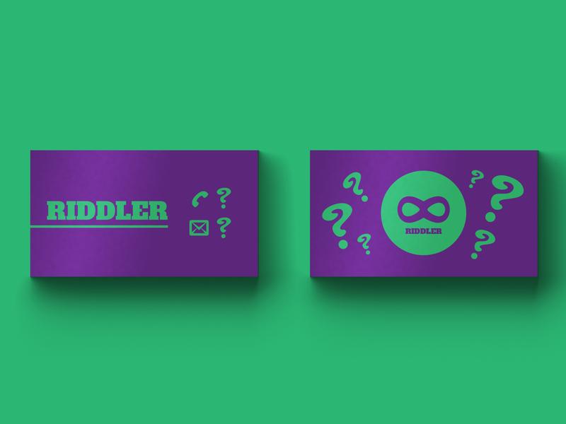 Riddler Business Card - Weekly Warm-Up vol. 2 vector card busienss logo lettering flat branding design