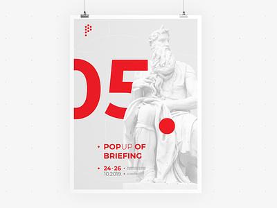 POP UP Sarajevo • Poster 01 • Visual Identity festival poster briefing ui  ux web identity communication visual vector typography sculpture poster logo illustration graphic festival event design branding app advertising