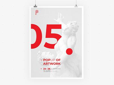 POP UP Sarajevo • Poster 02 • Visual Identity festival poster artwork ui  ux web identity communication visual vector typography sculpture poster logo illustration graphic festival event design branding app advertising