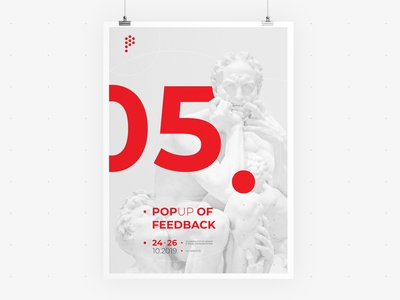 POP UP Sarajevo • Poster 03 • Visual Identity festival poster feedback web identity communication visual vector typography ui ux sculpture poster logo illustration graphic festival event design branding app advertising