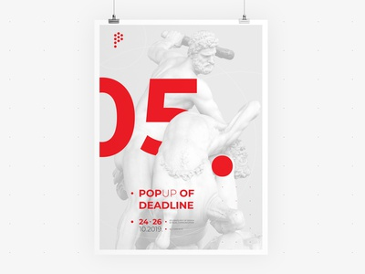 POP UP Sarajevo • Poster 05 • Visual Identity festival poster deadline identity communication visual vector typography ui ux sculpture poster logo illustration graphic festive festival event design branding app advertising