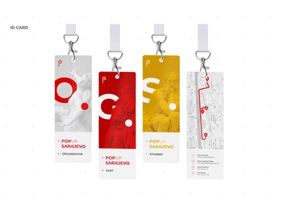 POP UP Sarajevo • ID Card id card visual communication vector ux ui typography students sculpture logo illustration page home graphic festival fest event design branding app advertising