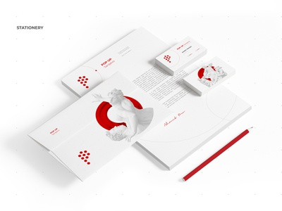 POP UP Sarajevo • Visual Identity / Stationery stationery visual communication vector ux ui ux ui typography sculpture logo illustration page home graphic festival fest event design branding app advertising