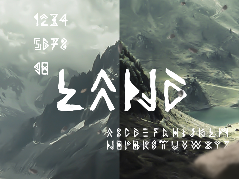 LAND Font / Free Download by Ahmet Prosic on Dribbble