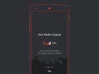 Tutorial screen for Zoombii app