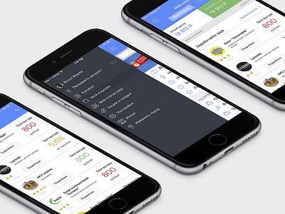 iOS app for ZR iphone mobile app wallet menu ios
