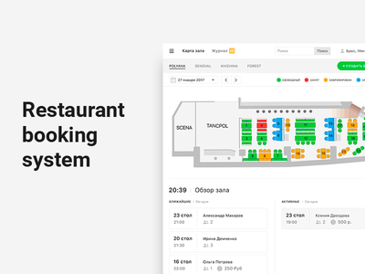 Booking system restaurant table reservation management booking web