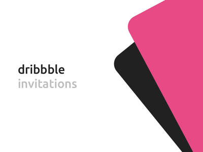 2 Dribbble Invites draft invitation dribbble invites invite