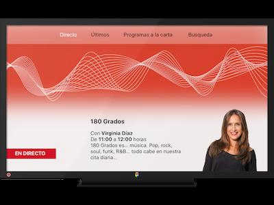 Radio 3 En Directo Tvos Dribbble live rtve 180-grados design app red radio radio3 tvos