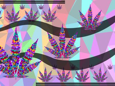 Diamond Marijuana Background