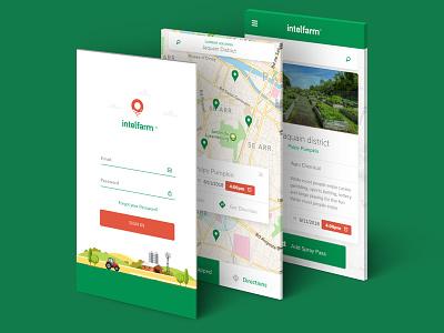 Intelfarm Ui design location design ui app farm