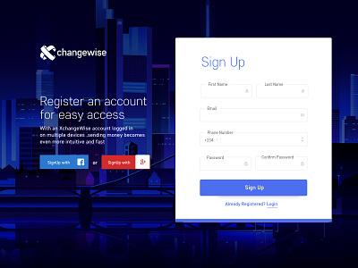 Sign Up concept registration signup