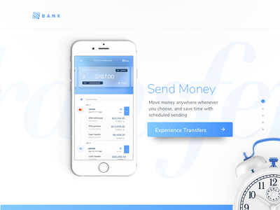 Banking app concept ios app money bank transfers mobile dashboard banking