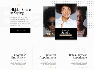 Hair Styling Website  stylists community appointments styling hair