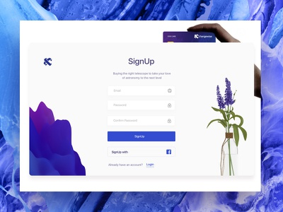 SignUp Concept Xchangewise debit credit currency login purple finance tech banking card signup
