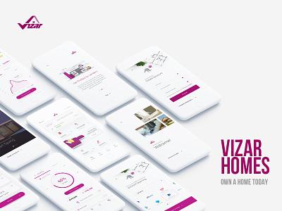 Vizar Homes App Preview mortgage ux ui mobile application loan estate real