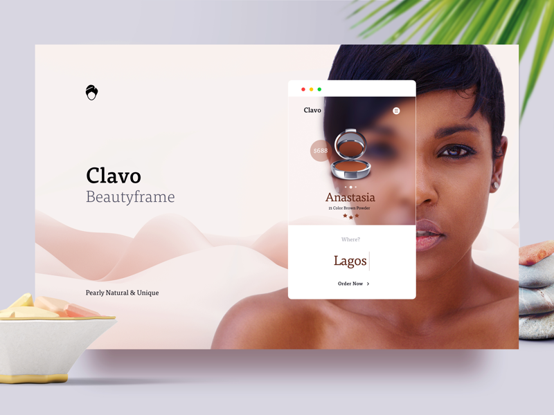Clavo Cosmetics Website Concept makeup interface ux ui ecommerce cosmetics beauty