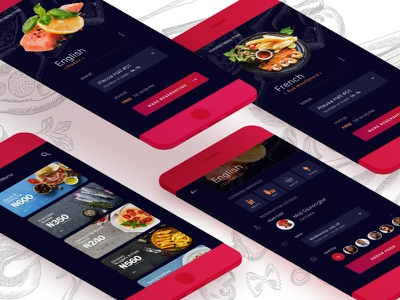 Catering Reservation Mobile App events eating ux design graphic app mobile ui reservation food catering