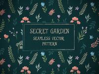 Secret Garden - Floral vector pattern