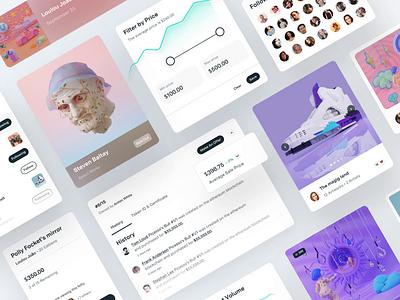 Nifty Gateway – Product Design white nft marketplace motion design minimal visual design crypto nftart product design