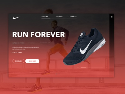 Nike Running Homepage | UI Design