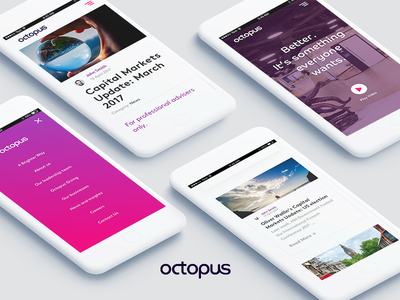Octopus Group - Mobile london design money banking corporate company news minimal white iphone fintech mobile