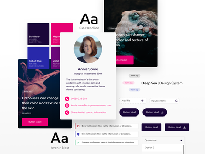 Octopus – Design System designer white light product design atomic design system design components design design system