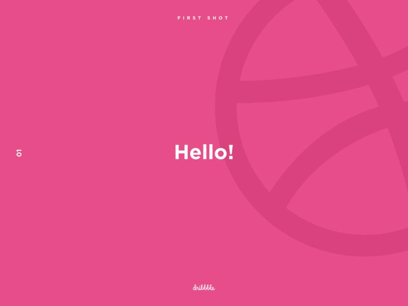 Hello Dribbble! minimal uidesign firstshot hellodribble