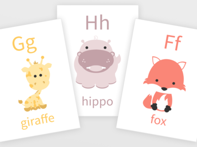 Baby Animal Alphabet Flashcards