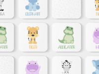 Zoo Animals Toddler Match Game