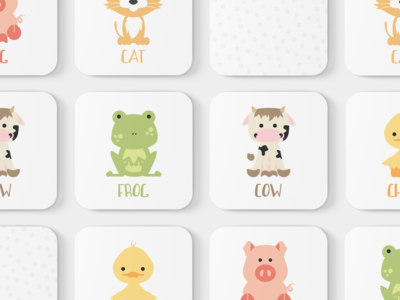 Farm Animals Toddler Match Game