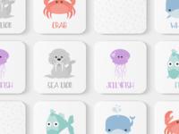 Sea Animals Toddler Match Game