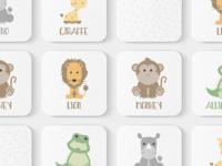 Safari Animals Toddler Match Game