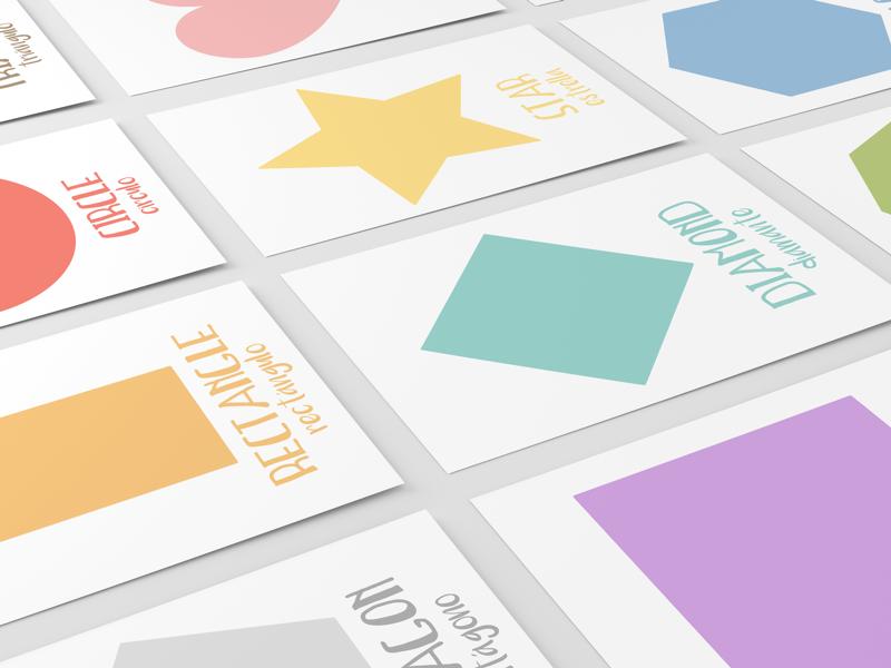 Shape Flashcards spanish english education learning flashcards shapes