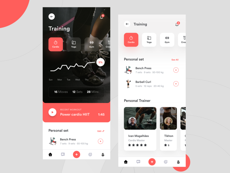 Wellness App : Training