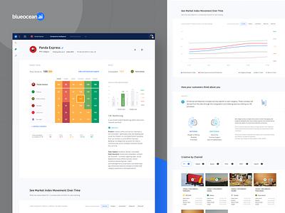 Blueocean: Brand Navigator dashboard ui desktop app product design brand identity brand character aidentity market index insights artificial intelligence navigator brand archetypes