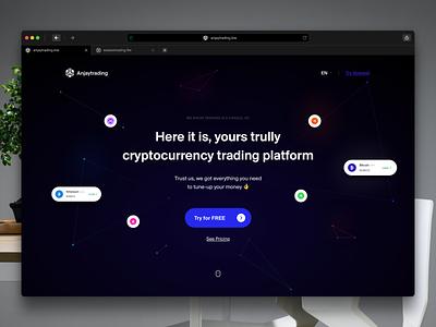 Cryptocurrency Trading Website marketing crypto marketing website landing page digital currency ethereum litecoin crypto exchange bitcoin exchange bitcoin wallet crypto wallet cryptocurrency