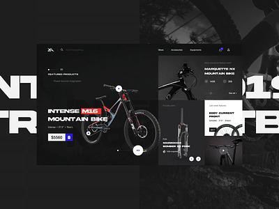 Mountain Bike Online Shop Exploration interaction design enduro website design bike online shopping mountain bike downhill bike shop online shop ecommerce design ecommence