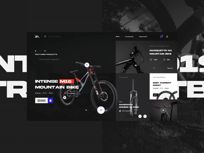Mountain Bike Online Shop Exploration interaction design enduro website design bike online shopping mountain bike downhill bike shop online shop ecommerce design ecommence